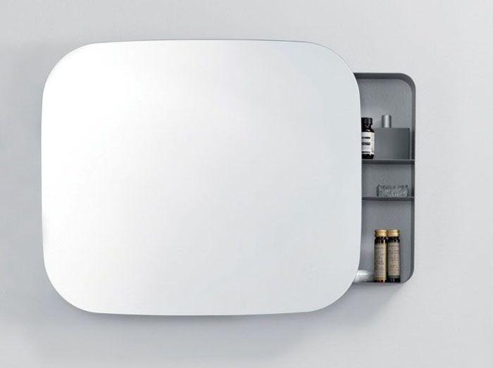 Petit meuble salle de bains notre s lection elle for Miroir salle de bain rangement