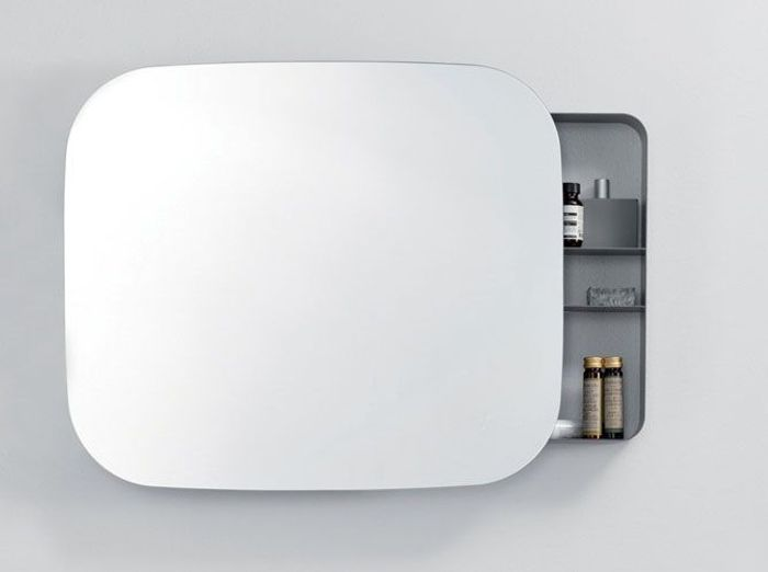 Miroir avec etagere salle bain miroir composer avec - Tablette salle de bain ikea ...