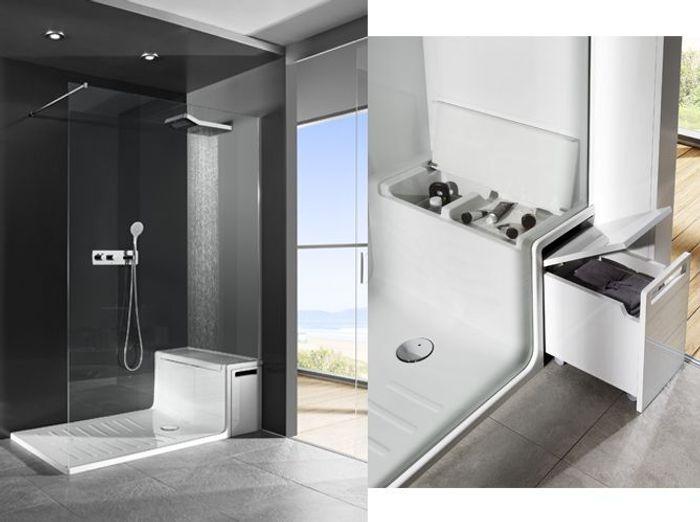 salle de bains comment gagner de la place elle d coration. Black Bedroom Furniture Sets. Home Design Ideas