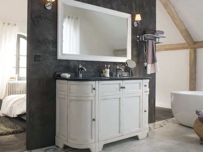 Un meuble ancien pour ma salle de bains elle d coration for Meuble salle de bain ancien avec marbre