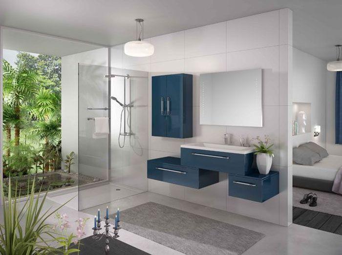 les couleurs s invitent dans la salle de bains elle d coration. Black Bedroom Furniture Sets. Home Design Ideas