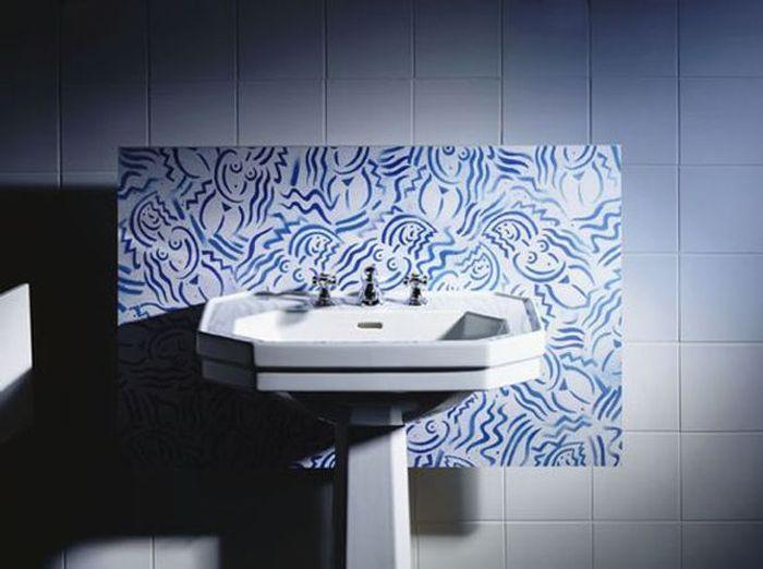 les codes de la salle de bains rétro chic - elle décoration - Lavabo Retro Salle De Bain