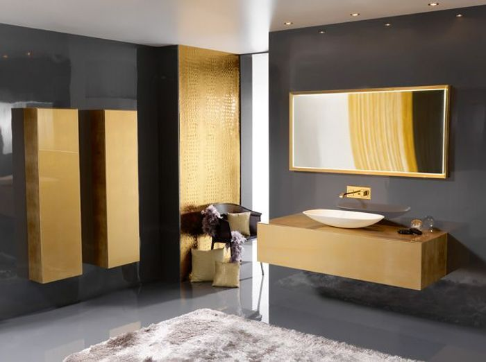 20 salles de bains color es elle d coration. Black Bedroom Furniture Sets. Home Design Ideas