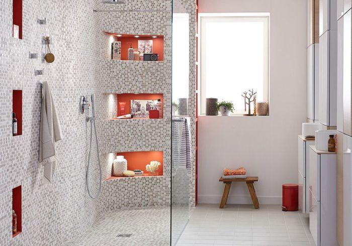 Salle de bains 15 sols qui font la diff rence elle d coration - Salle de bain en mosaique ...