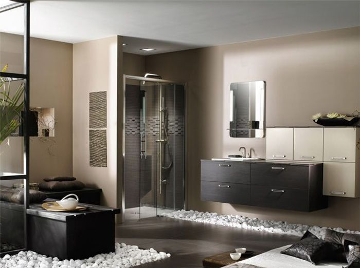 salle de bains zen elle d coration. Black Bedroom Furniture Sets. Home Design Ideas