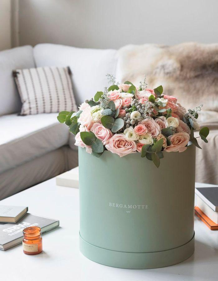 Printemps le pouvoir du bouquet de fleurs la maison for Bouquet de fleurs dans une boite
