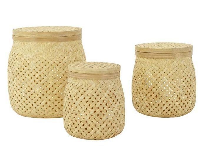 Deco orientale pot bambou h