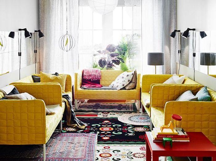 Des tapis superposés pour un effet moquette réussi