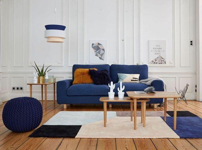 Idées Déco Pour Le Salon Elle Décoration - Canapé 3 places pour deco interieur sejour