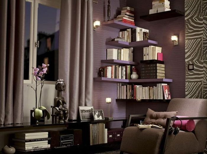 10 id es pour une biblioth que originale elle d coration. Black Bedroom Furniture Sets. Home Design Ideas