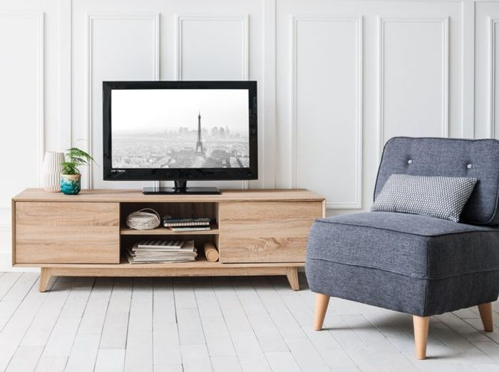 meuble tv scandinave bleu solutions pour la d coration. Black Bedroom Furniture Sets. Home Design Ideas