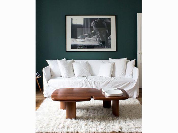 Un salon accueillant blanc et vert