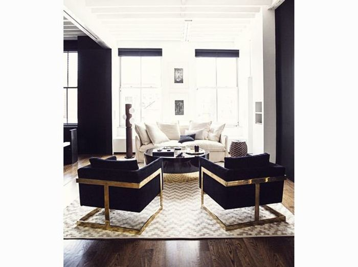 les plus beaux salons rep r s sur pinterest elle d coration. Black Bedroom Furniture Sets. Home Design Ideas
