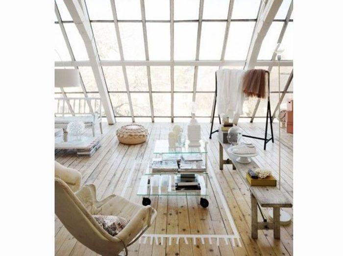 Un salon design et naturel
