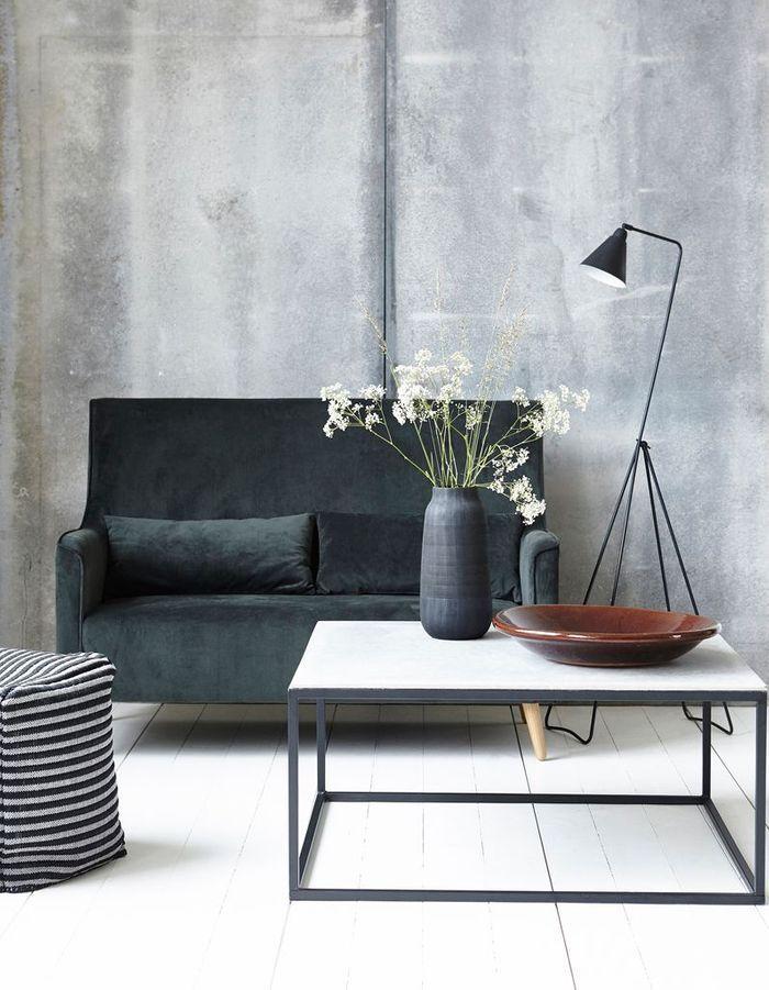 le noir blanc s invite au salon elle d coration. Black Bedroom Furniture Sets. Home Design Ideas