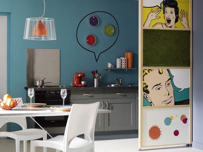 Une transition id ale entre la cuisine et le salon elle for Deco salon avec cuisine ouverte