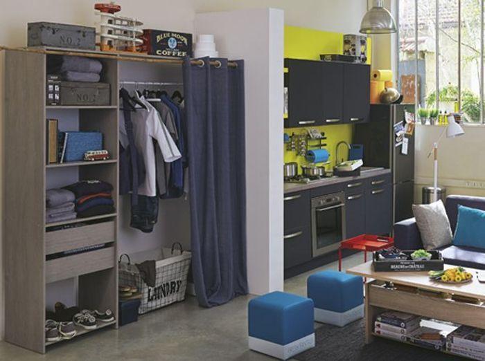 15 id es de dressings pour un petit appartement elle for Chambre entiere