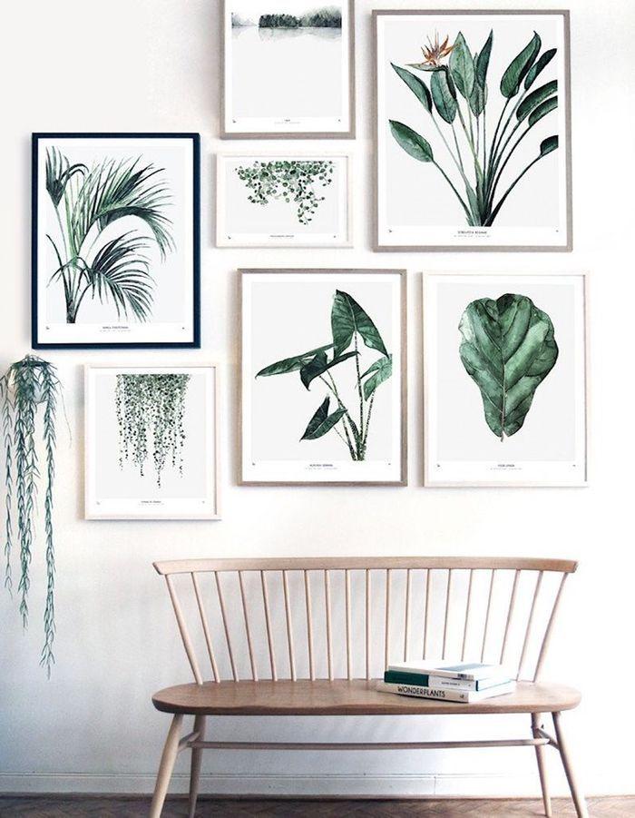 Des affiches esprit botanique pour une déco cocooning