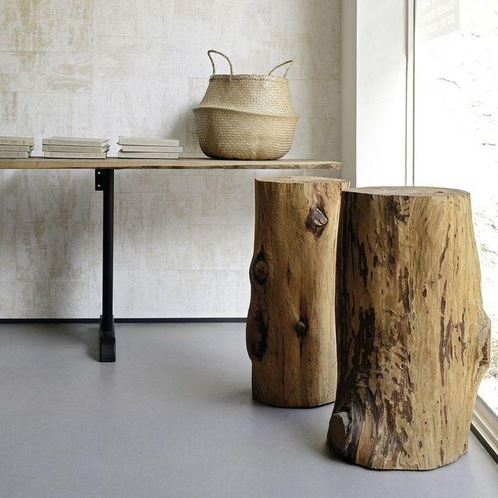 R chauffer son int rieur en 12 le ons elle d coration - Table basse rondin de bois ...