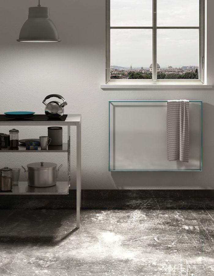 Un radiateur design à effet d'optique