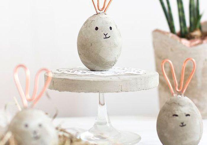 Des décorations d'œufs de Pâques pas (n)œuf-(n)œuf