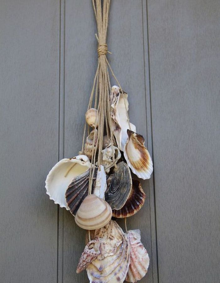 Diy d co galets bois flott coquillages direction la plage pour un int rieur chic et marin - Decoration de porte ...