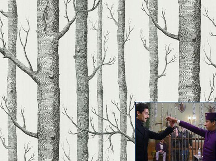 Un papier peint forêt comme dans The Grand Budapest Hotel (2013)