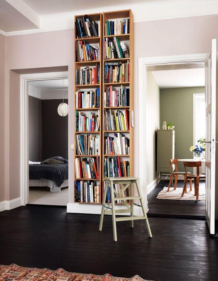 Peindre son couloir via des murs rose poudrée