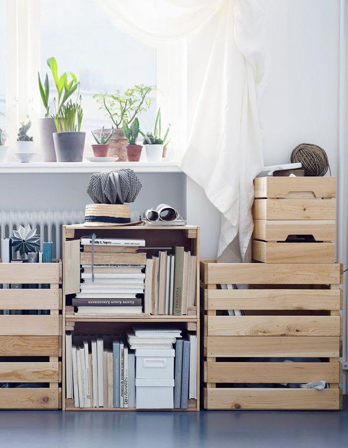 astuce rangement livre great meubles de rangement modulables tagres caisson pour les chaussures. Black Bedroom Furniture Sets. Home Design Ideas