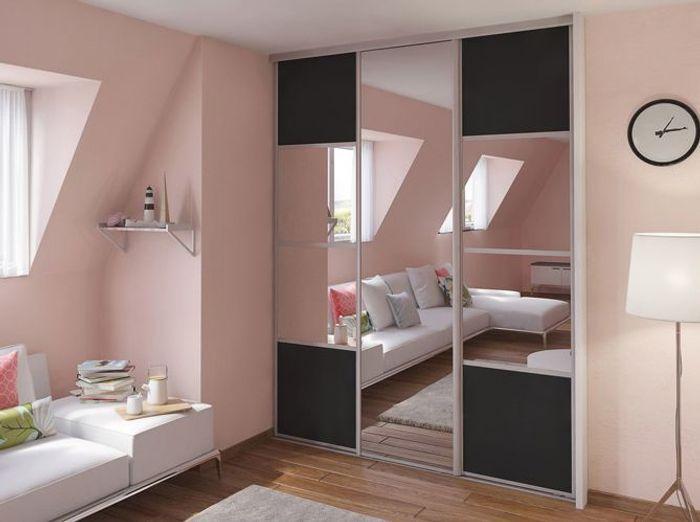 O acheter de jolies portes de placard elle d coration Porte coulissante placard miroir