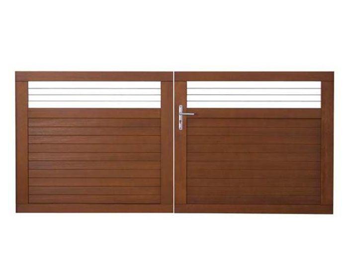 Un portail pour tous les styles elle d coration - Peindre un portail en bois ...