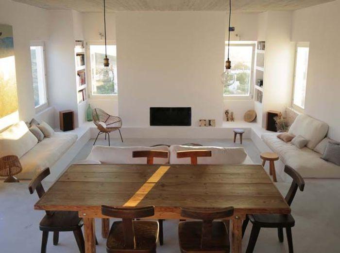 Salon villa en grece