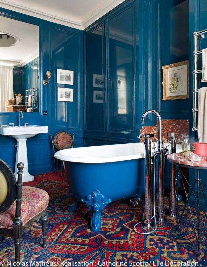 Une salle de bains très cosy