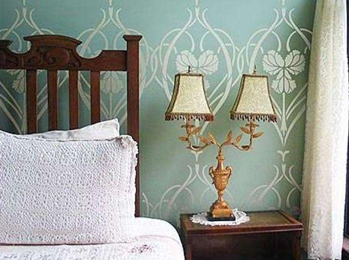 La chambre de style art nouveau