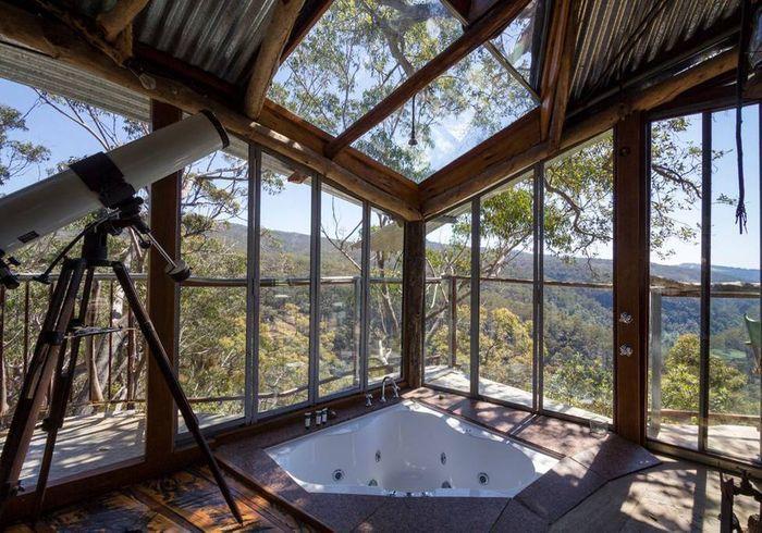 Cabane entièrement ouverte en Australie
