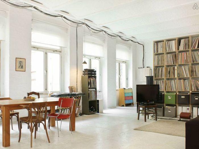 Loft arty murs blancs berlin