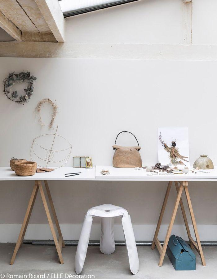 Atelier d'artistes sous la verrière