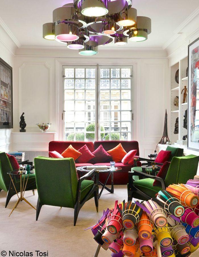 Une d coration chic glamour elle d coration for Interieur chic parisien