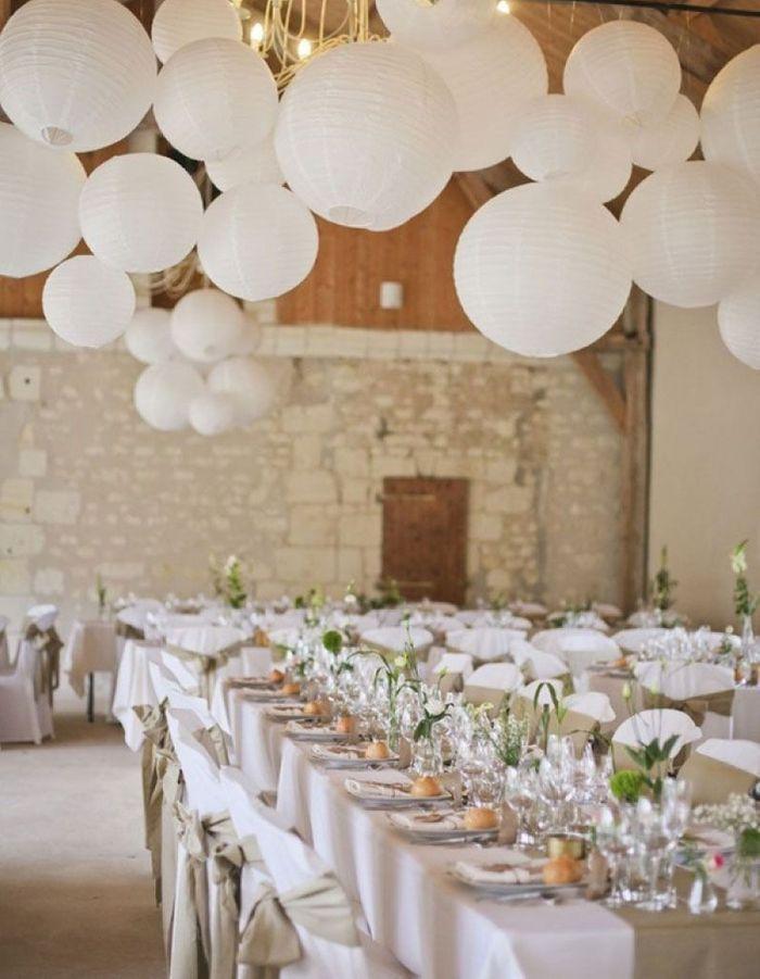 Table de mariage 35 id es d co dignes de ce grand jour elle d coration - Mariage simple et original ...
