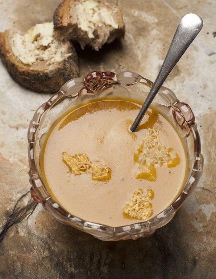 Soupe de légumes : Soupe de marrons, café et parmesan de Sébastien Gaudard