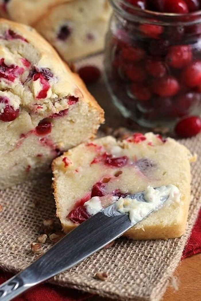 Cake au cream cheese et cranberries