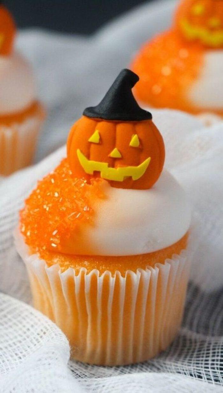 Cupcake Halloween citrouille