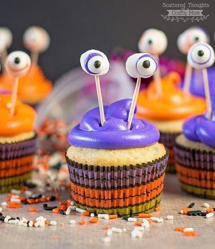 Cupcake halloween monstres
