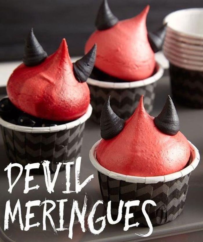 Cupcakes halloween diable