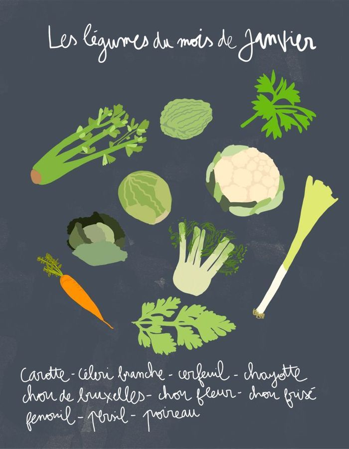 Quels fruits et légumes de saison en janvier ?