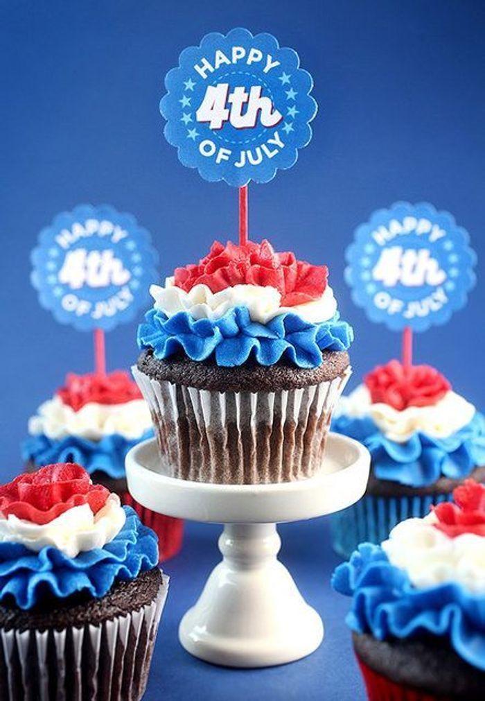 Cupcakes Gla 231 Age Tricolore Des Desserts Made In Usa Pour