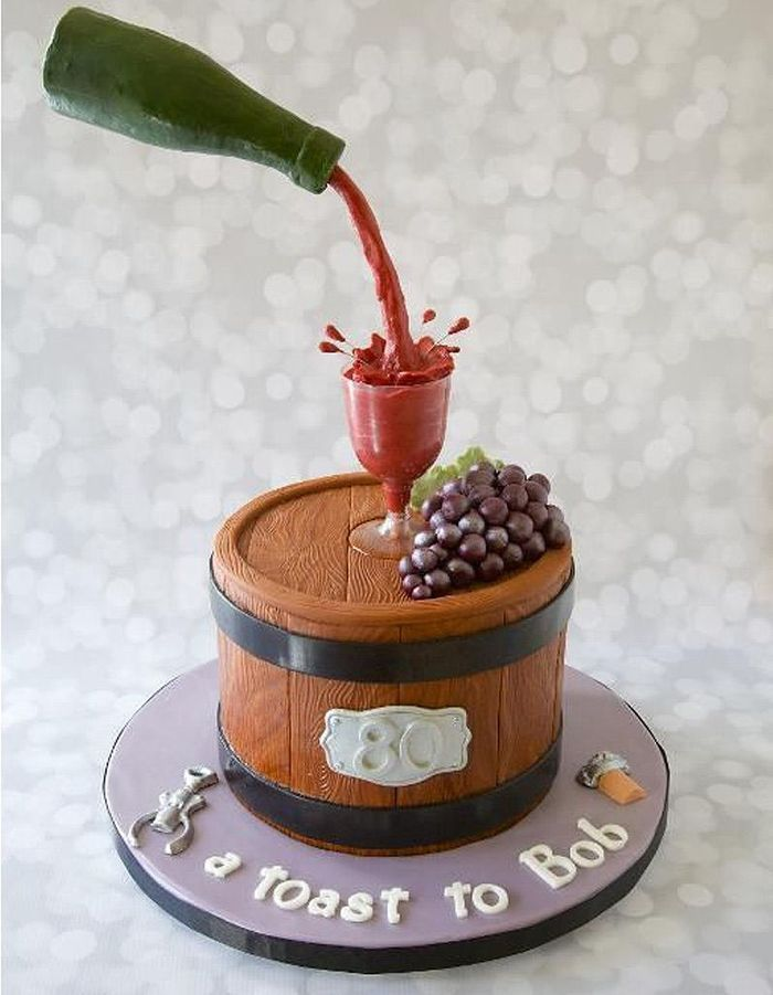 Gravity cake tonneau et bouteille de vin rouge 20 gravity cake tomber elle table - Gravity cake noel ...