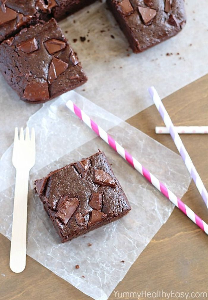 junk food healthy brownie au chocolat sans beurre on. Black Bedroom Furniture Sets. Home Design Ideas