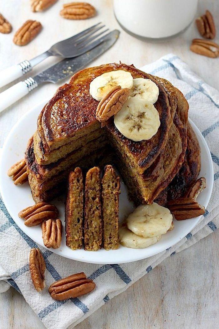 pancakes healthy au potiron de bonnes id es de pancakes healthy pour le petit d jeuner elle. Black Bedroom Furniture Sets. Home Design Ideas