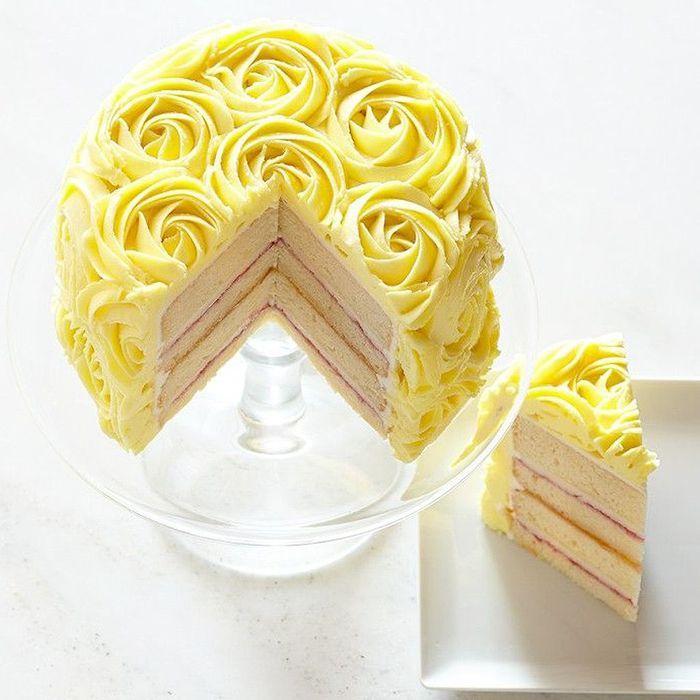 Rose cake mascarpone
